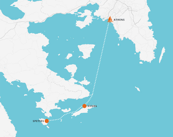 5 Day Sailing Trip - Athens to Hydra and Spetses