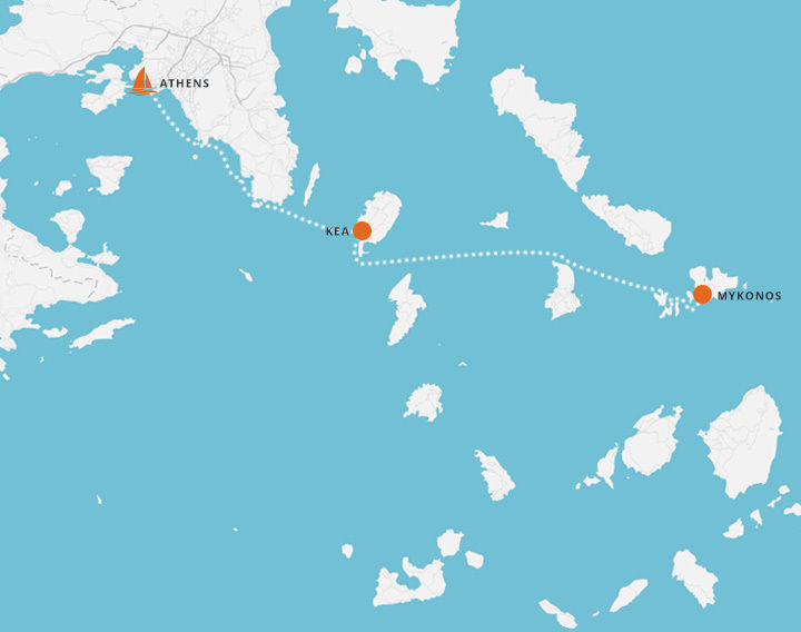 5 Day Sailing Trip - Athens to Mykonos