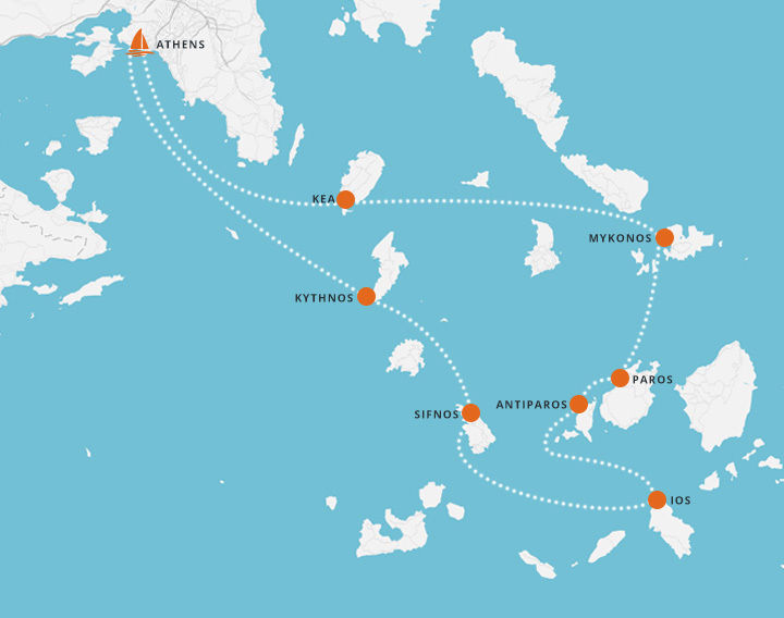7 Day Sailing Trip - Athens to Mykonos