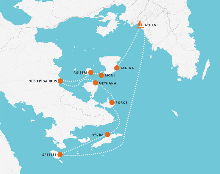 7 Day Sailing Trip - Athens to nearby Islands