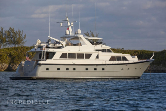 Yacht rent Custom Broward 103ft in Yacht Haven Marina, Nassau