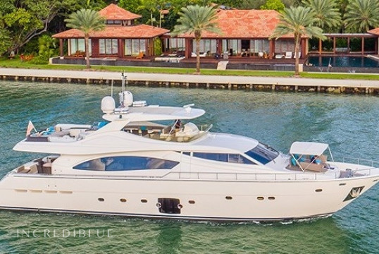 Yacht rent Ferretti 88ft in Miami Beach, South Florida