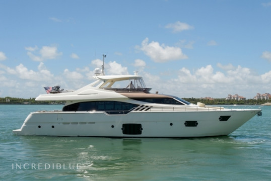 Yacht rent Ferretti 87' in Miami Beach, South Florida