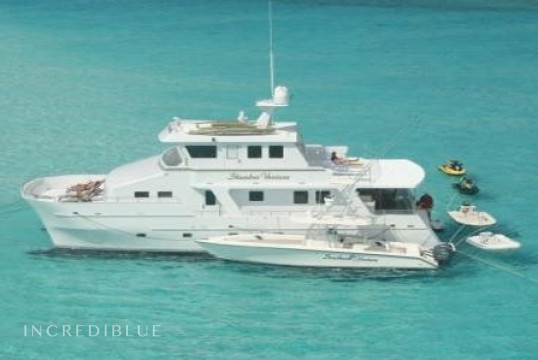 Catamaran rent Custom Power Cat 60' in Yacht Haven Marina, Nassau