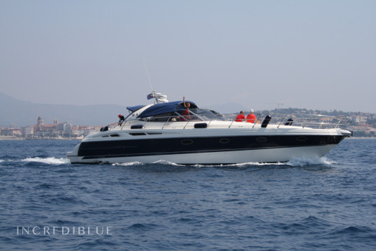 "Huur jacht Cranchi Yachts mediterrannée 50  "" in Port Nice, Alpes Maritimes - Nice"