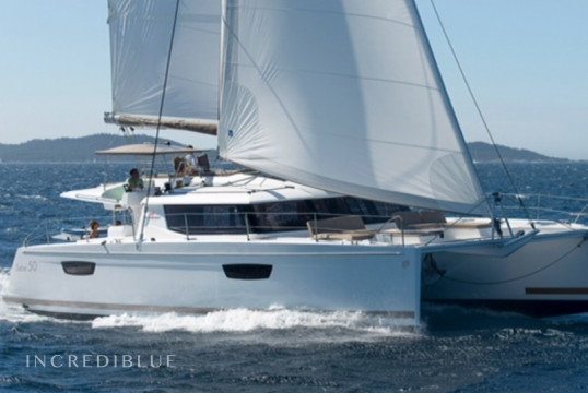 Catamaran rent Fountaine Pajot Saba 50 in Porto di Cannigione, Sardinia