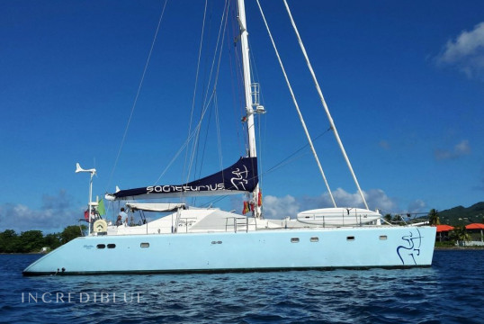 Catamaran rent privilege 20m in Marina de Canouan Island, Saint Vincent and the Grenadines
