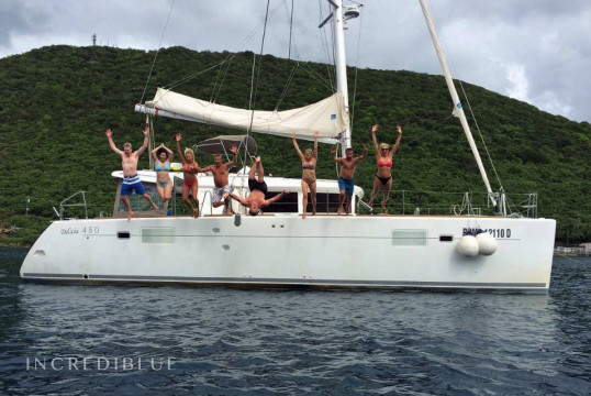 Catamaran rent Lagoon 450 in Marina de Canouan Island, Saint Vincent and the Grenadines