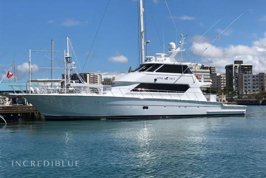 Yacht rent Hatterras 26.21m in Leverick Bay Marina, British Virgin Islands
