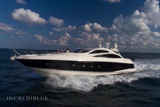 License free boat rent Sunseeker 82' Predator in West Palm Beach, South Florida