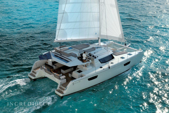 Catamaran rent Fountaine Pajot Saba 50 in Cala dei Sardi, Sardinia