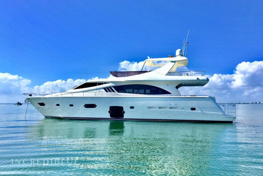 Yacht rent Ferretti 80' Flybridge Ferretti in Island Gardens Marina, South Florida