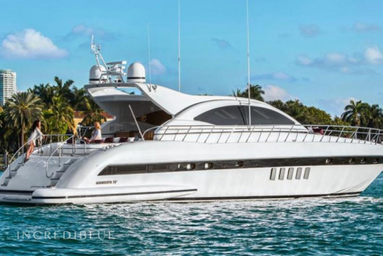 Yacht rent Mangusta 72' in Miami Beach, South Florida