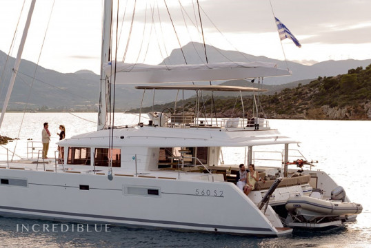 Catamaran rent Lagoon 560 in Port de Sant Antoni, Ibiza