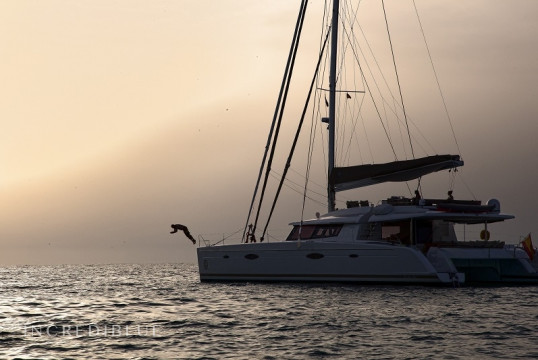 Catamaran rent Fountaine Pajot Victoria 67 in Port de Sant Antoni, Ibiza